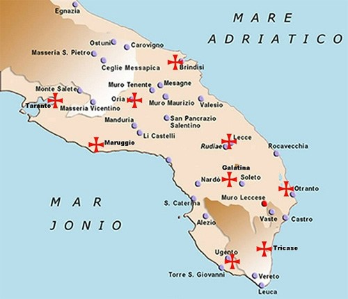 Cartina Puglia Carovigno.Maruggio E I Templari In Salento Gran Loggia Phoenix